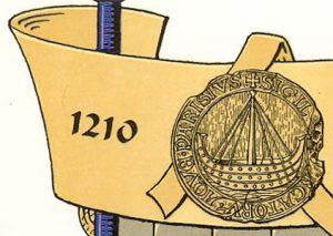 Selo  datando de 1210