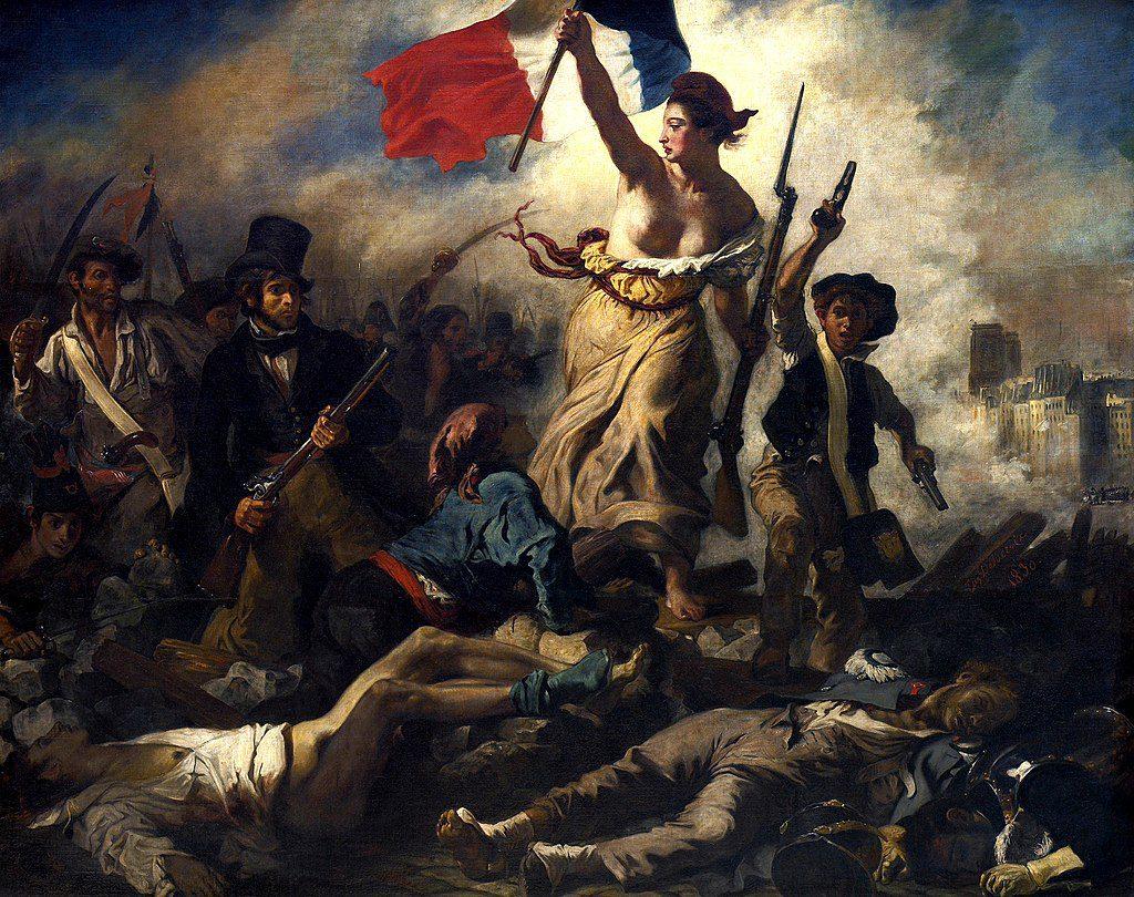 Marianne guiando o povo, Eugène Delacroix 1830