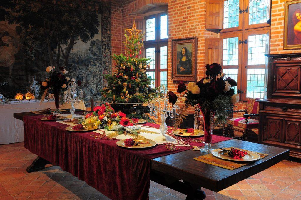 Salão de Da Vinci no CLos Lucé época natalina
