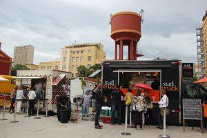 O SudDog na praça de food trucks da feira / Foto de Carla Lencastre