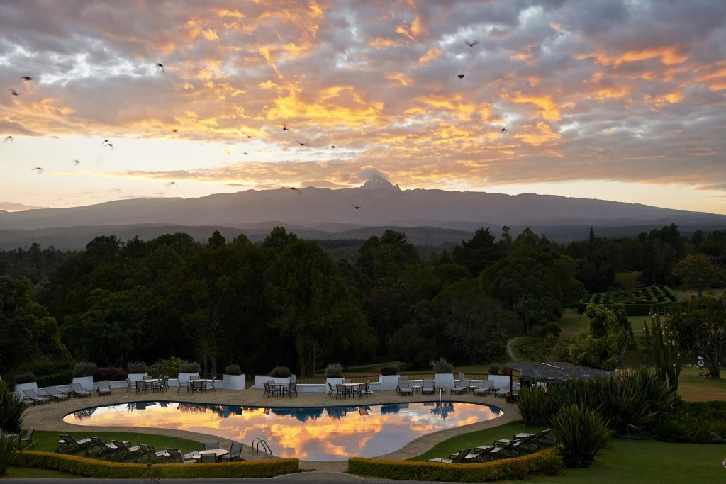 Fairmont Mount Kenya Safari Club - pool with mountain background