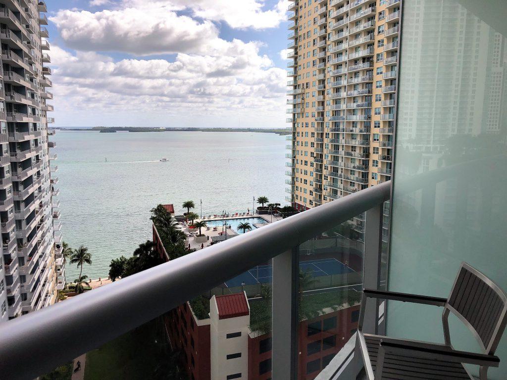 Baía de Biscayne, vista do novo Hyatt Centric Brickell Miami