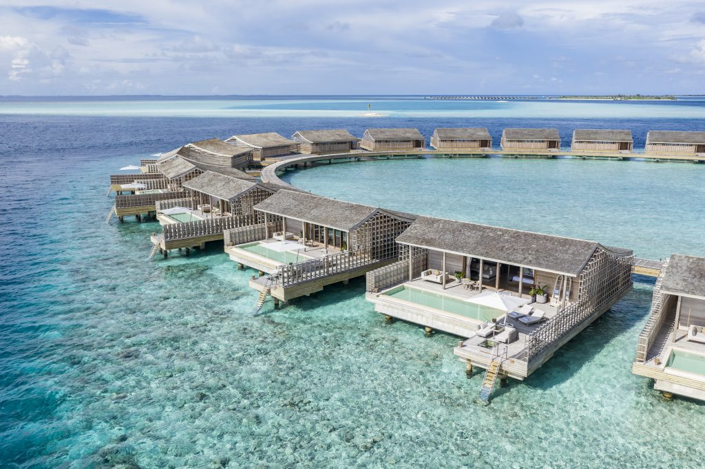 O Kudadoo Maldives Private Island by Hurawalhi, nas Maldivas. Foto: Diego de Pol (Divulgação).