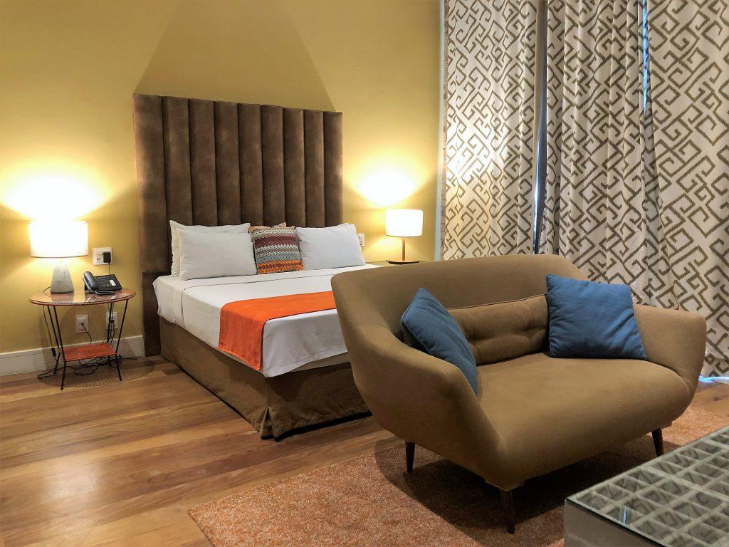 Um dos quartos do Selina Lapa Rio