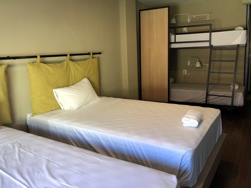 Um dos quartos compartilhados do Selina Lapa Rio
