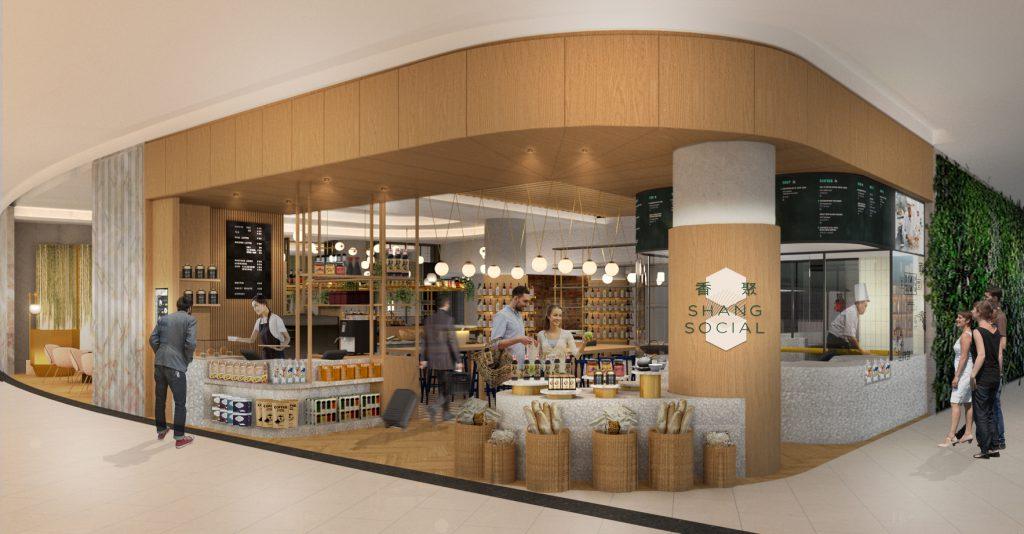 Shang Social, restaurante Shangri-La Hotels, Aeroporto de Changi, Singapura